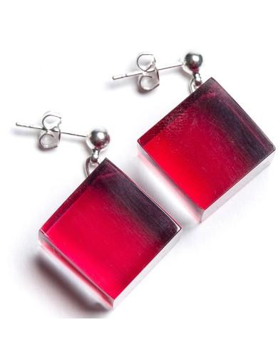 LG - Cubes earrings - red