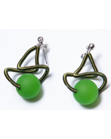 SGP-Sat earrings LG - green