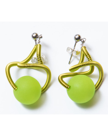 SGP-Sat earrings LG - kiwi