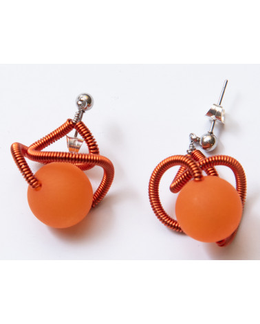 SGP-Sat earrings LG - orange